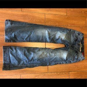 Express wide leg denim jeans